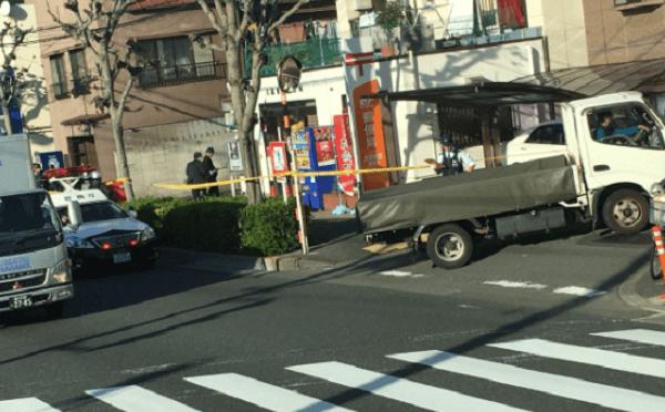 大田区大森東の郵便局で強盗事件の現場の画像