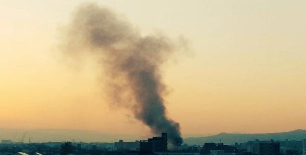 高槻市北昭和台町で火事の現場の画像