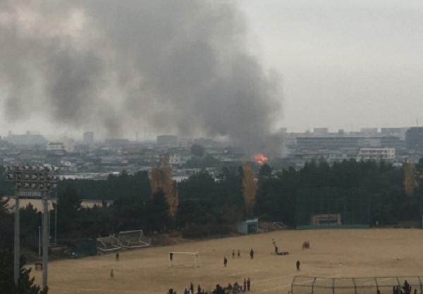 明石市二見町西二見で火事の画像