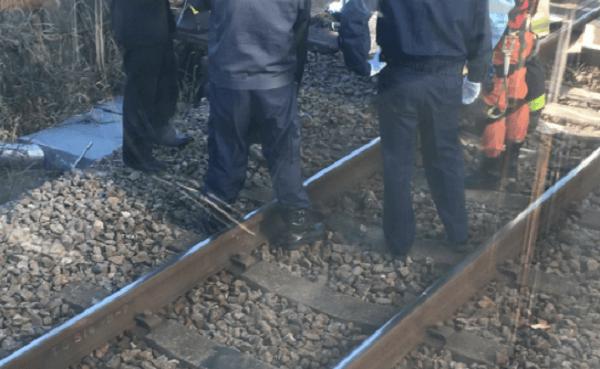 横浜線の踏切で人身事故の現場の画像