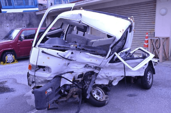 沖縄県那覇市で飲酒の状態で米兵が公用車運転で死亡事故の画像
