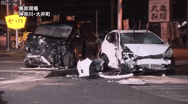 大井町で飲酒運転の死亡事故のニュースキャプチャ画像