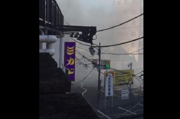 大宮北銀座のソープ街で火事の画像
