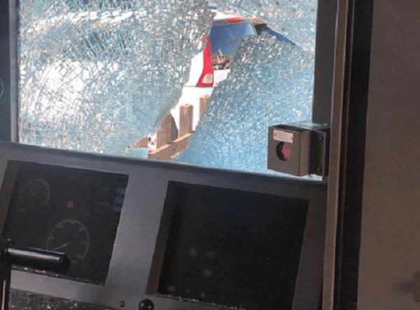 東上線で人身事故の現場の画像