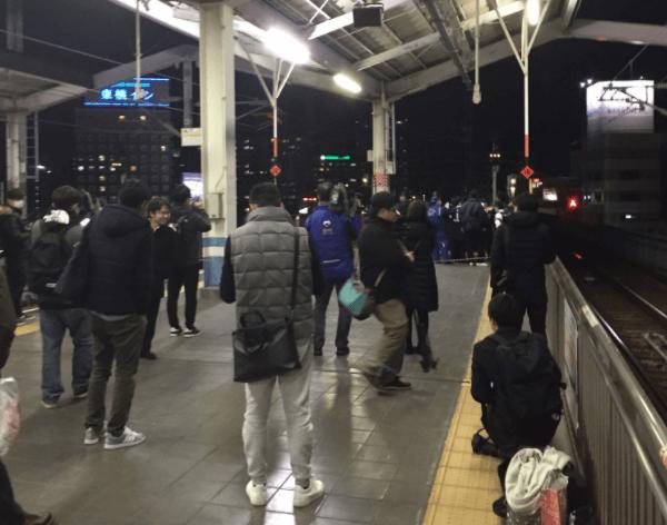 岡山駅で不審者が線路に立ち入り山陽新幹線が遅延の画像