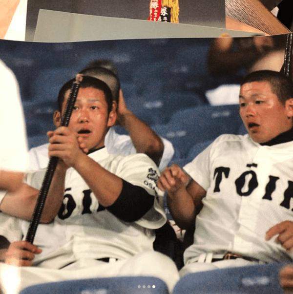 田中翔選手のインスタの初投稿のキャプチャ画像