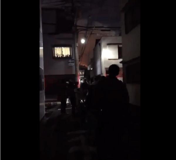 大阪市生野区勝山北で火事の画像