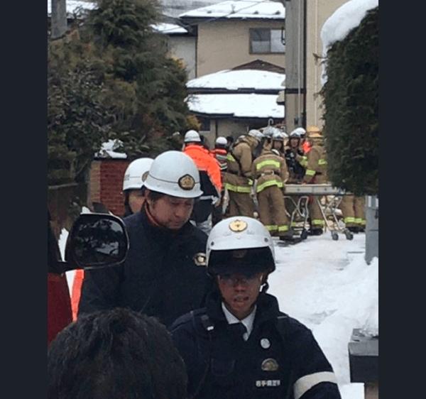 盛岡市中屋敷町で爆発事故の現場の画像