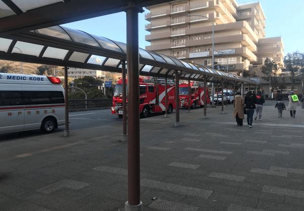 神戸市営地下鉄西神・山手線の学園都市駅で人身事故の画像