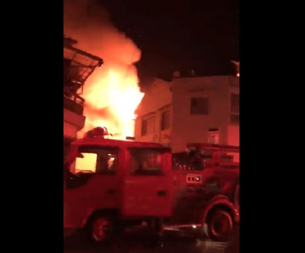 富田林市若松町で火事の動画のキャプチャ画像