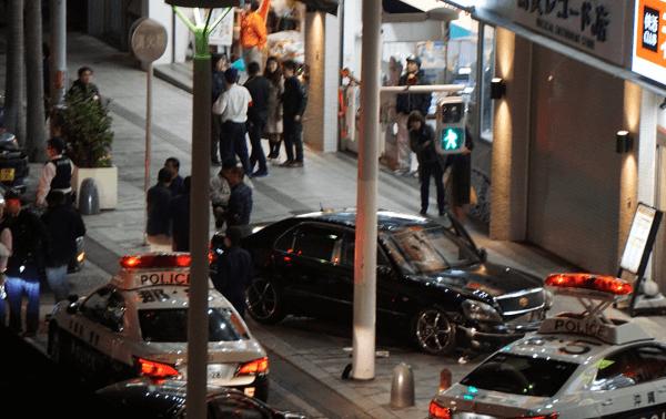 那覇市牧志の国際通りで事故の現場の画像