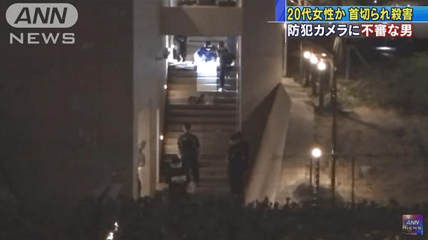 多摩市諏訪で上田眞由華さん殺人事件のニュースのキャプチャ画像