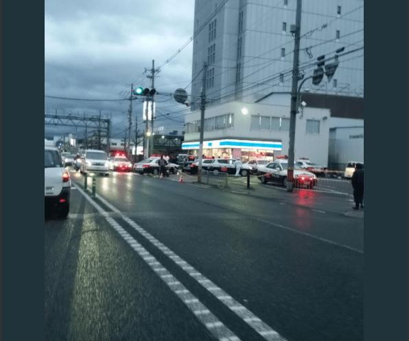 京都南インターのローソンで強盗事件の画像