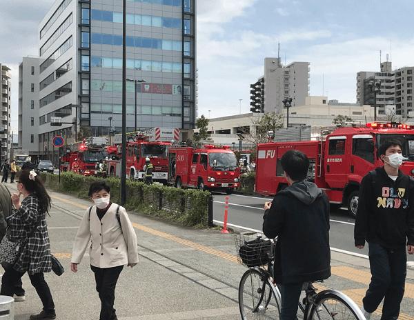 テラスモール湘南で火事の画像