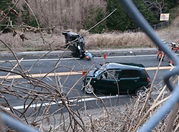 伊豆縦貫道の長泉IC付近で事故の画像