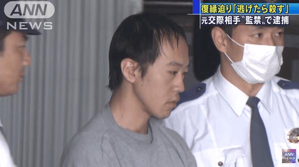 浅野真一容疑者、元交際相手を監禁した事件のニュースのキャプチャ画像
