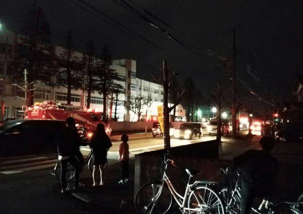 帝京長岡高等学校で火事の画像