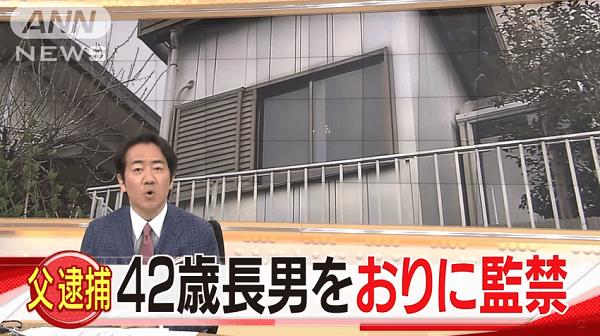 三田市で障害のある長男を監禁していた虐待事件のニュースのキャプチャ画像