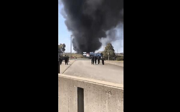 磐田市の静岡産業大学付近で火事の画像