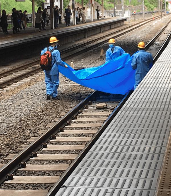 西国分寺駅で人身事故の現場の画像