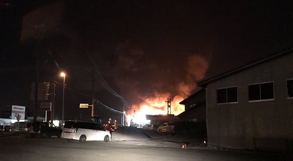 岩手県花巻市高田の火事現場の写真画像