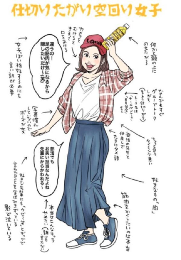 つぼゆりさんが描いた「#午後ティー女子」のイラスト画像