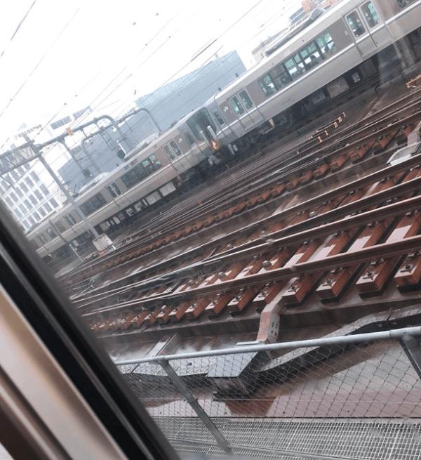 ひめじ別所駅で人身事故の現場の画像