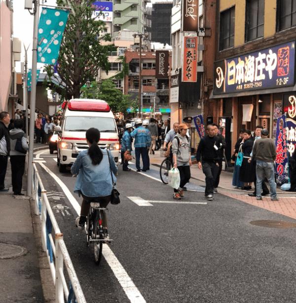 小岩駅付近で殺傷事件の現場の画像