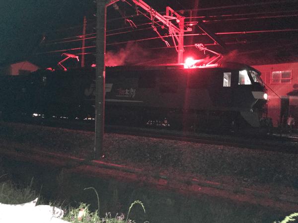 高崎線の岡部~深谷間で人身事故の現場の画像