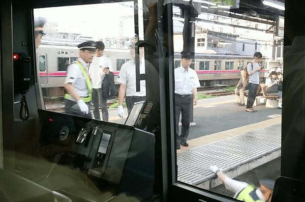 桜上水駅で人身事故の現場の画像