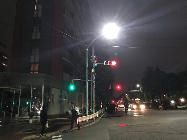 渋谷区神南のNHK前で通り魔事件の現場の画像
