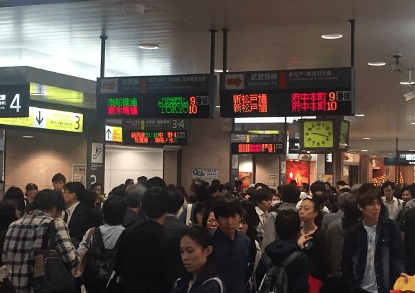 武蔵野線の船橋法典駅で人身事故の画像