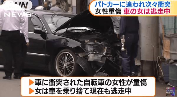 大阪市西区九条でひき逃げ事件のニュースのキャプチャ画像