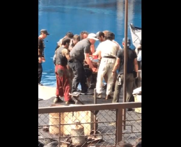 ユニバのウォーターワールドで接触事故の動画のキャプチャ画像