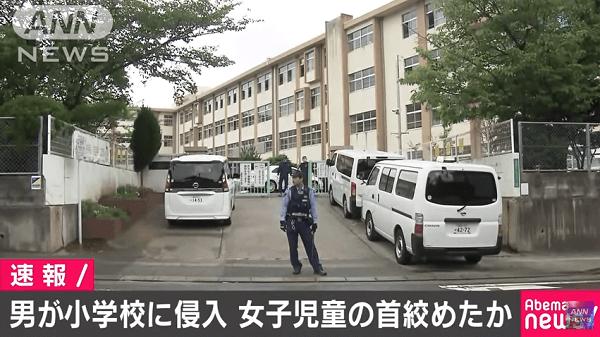 香椎東小学校に不審者が侵入のニュースのキャプチャ画像