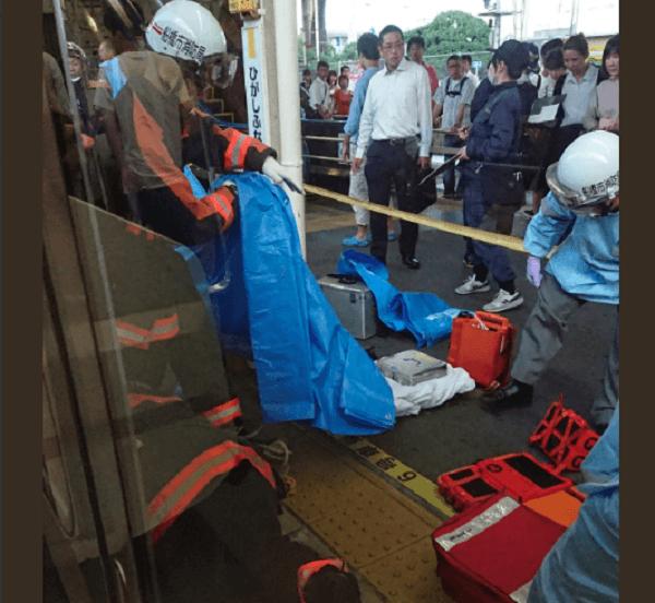 総武線・東船橋駅で人身事故の現場の画像