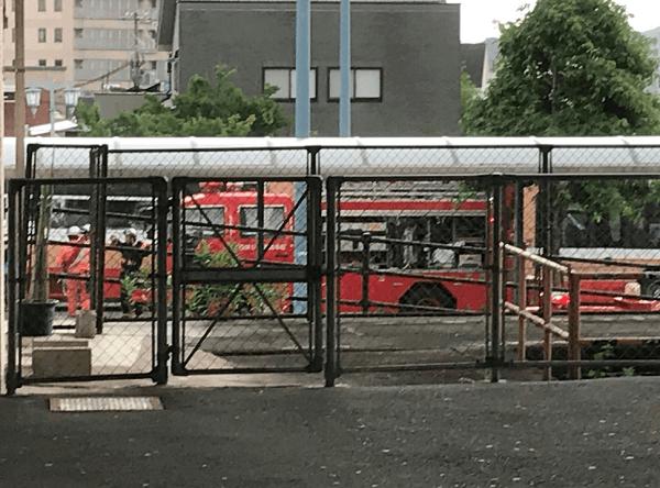山陽新幹線・相生駅で人身事故の現場の画像