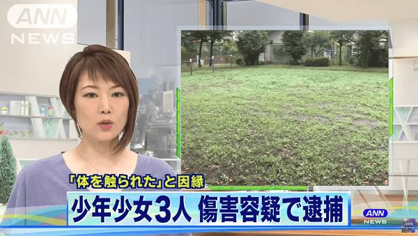 八王子市で女子高生や少年がリンチした傷害事件のニュースのキャプチャ画像