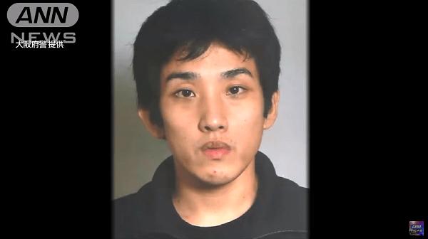 富田林署から逃走した樋田淳也容疑者の顔写真の画像