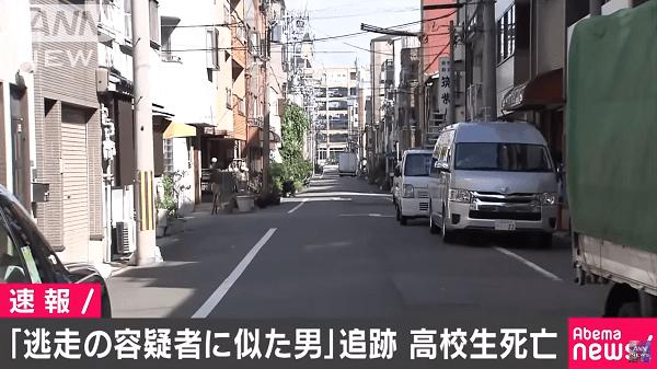 樋田容疑者に似た男で警察追跡し高校生がバイク事故で死亡するニュースのキャプチャ画像