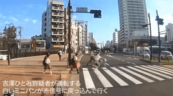 吉澤ひとみ容疑者の飲酒ひき逃げ事件のドラレコ映像の画像