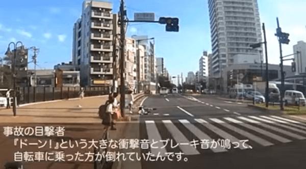 吉澤ひとみ容疑者がひき逃げし通行人らが素通りするドラレコ映像の画像