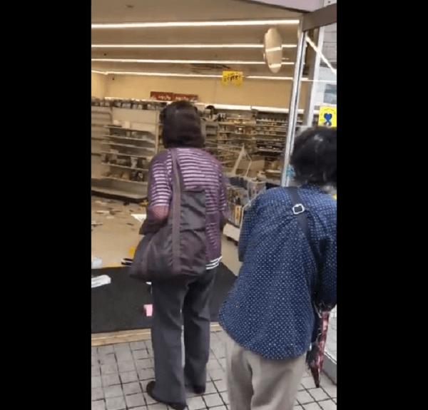 大阪府吹田市のコンビニ破壊事件の画像