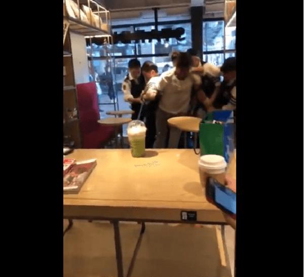 TSUTAYA中目黒店で外人暴れ現行犯逮捕の画像