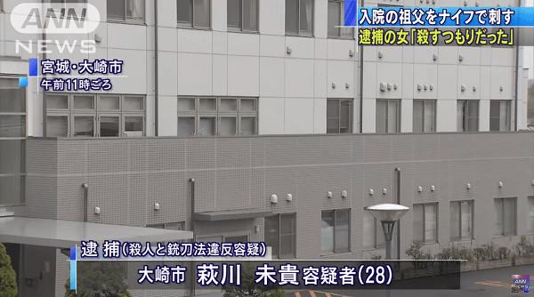 大崎市民病院鹿島台分院で殺人事件のニュースのキャプチャ画像