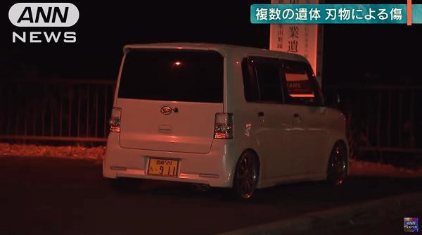 高千穂町の殺人事件で飯干昌大さんが乗り捨てた軽自動車の画像
