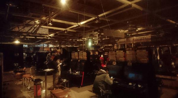千葉のゲームセンターが停電している画像