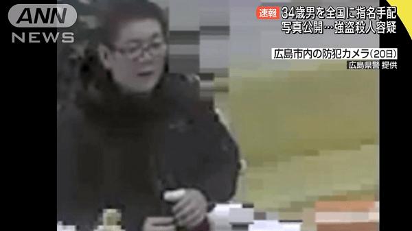 冨田幸誠容疑者が広島市内の病院の防犯カメラに映った画像