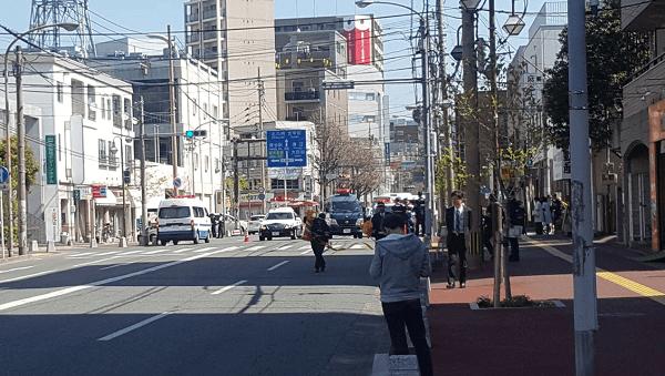 南福岡駅前で不審物が見つかった現場画像