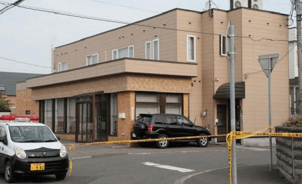 札幌市北区新琴似で殺人事件が起きた現場の画像